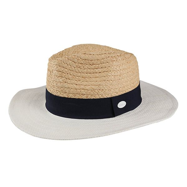 Regatta Women's Marsa Paper Straw Hat Calico Cream Navy White
