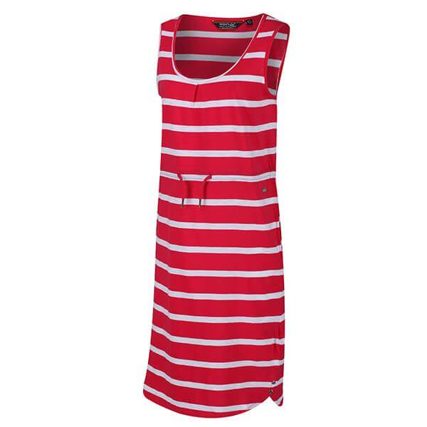 Regatta Women's Felixia Striped Sleeveless Dress Virtual Pink