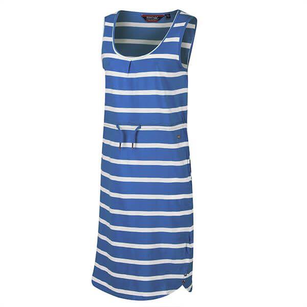 Regatta Women's Felixia Striped Sleeveless Dress Strong Blue