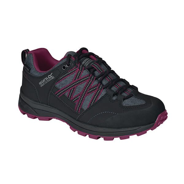 Regatta Women's Samaris II Low Walking Shoes Black Purple