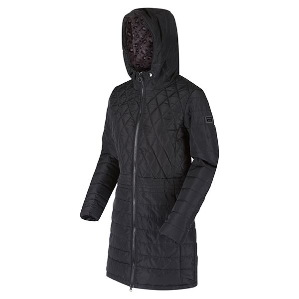 Regatta Black Parmenia Insulated Quilted Hooded Parka Jacket