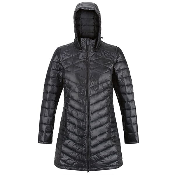 Regatta Black Andell II Lightweight Insulated Quilted Hooded Parka Walking Jacket