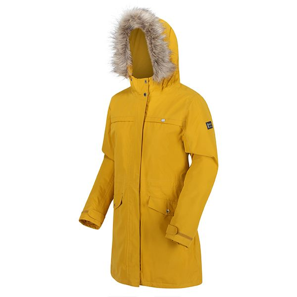 Regatta Mustard Seeds Serleena II Waterproof Insulated Fur Trimmed Hooded Parka Jacket