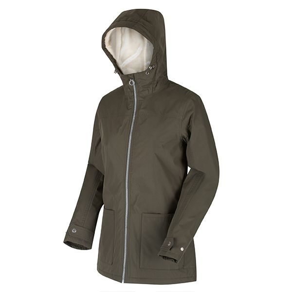 Regatta Dark Khaki Bergonia II Waterproof Insulated Hooded Jacket