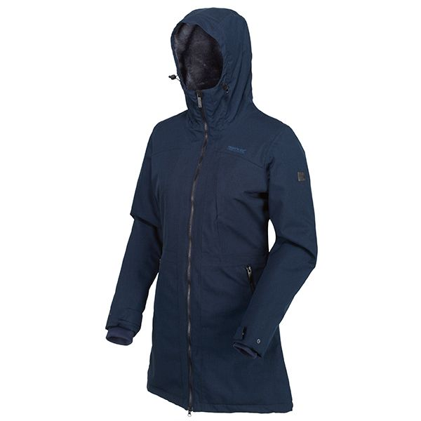 Regatta Navy Voltera II Waterproof Insulated Hooded Heated Walking Parka Jacket