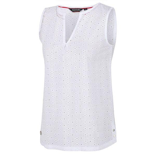 Regatta Women's Jadine V-Neck Sleeveless Top White