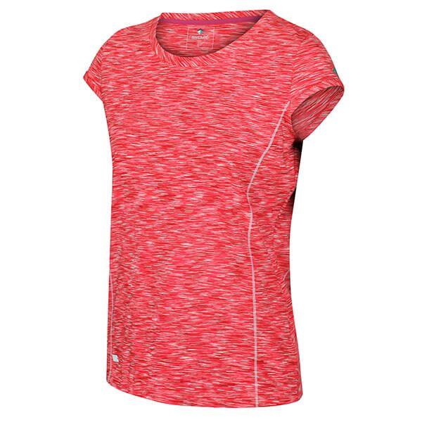 Regatta Women's Hyperdimension Quick Dry T-Shirt Neon Pink White