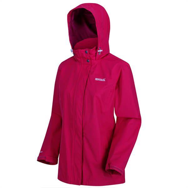 Regatta Women's Daysha Lightweight Waterproof Jacket Dark Cerise