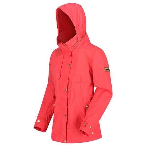 Regatta Women's Narelle Lightweight Waterproof Funnel Neck Jacket Red Sky