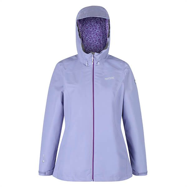 Regatta Women's Hamara III Lightweight Waterproof Hooded Walking Jacket Lilac Bloom