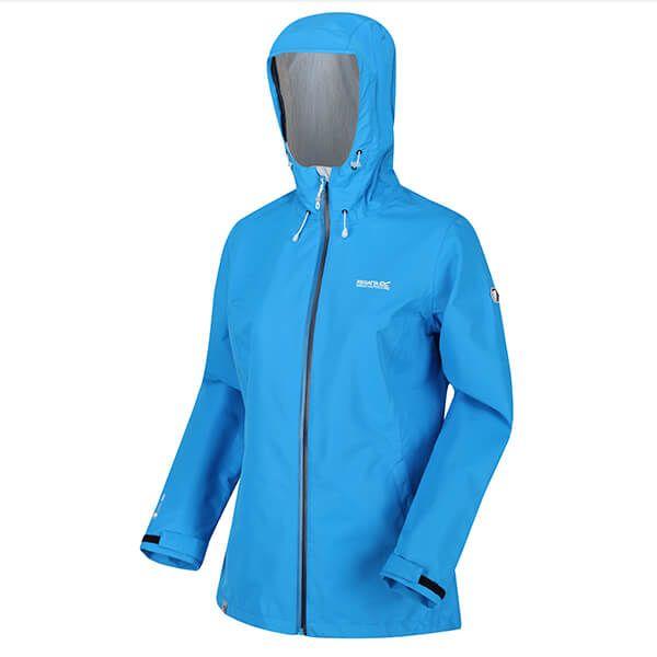 Regatta Women's Hamara III Lightweight Waterproof Hooded Walking Jacket Blue Aster
