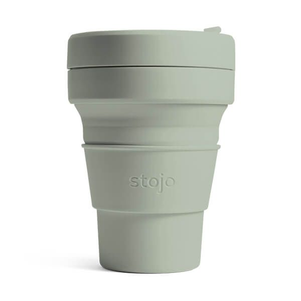 Stojo Brooklyn Sage Collapsible Pocket Cup 12oz/355ml