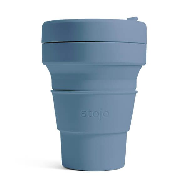 Stojo Brooklyn Steel Blue Collapsible Pocket Cup 12oz/355ml