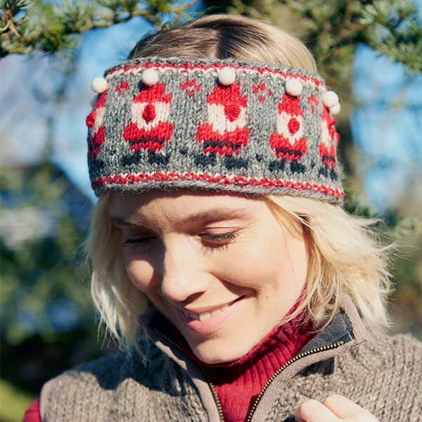 Pachamama Knitted Santa Headband