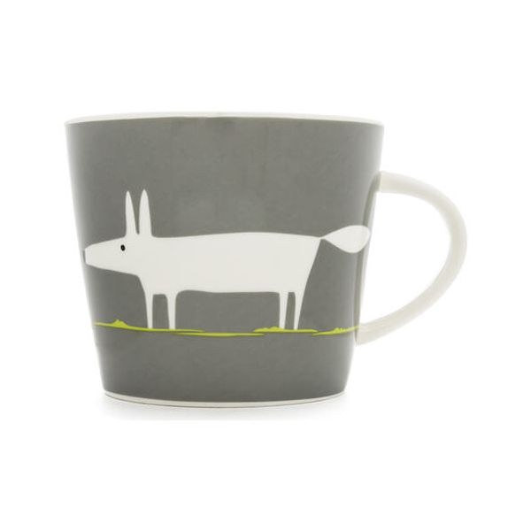 Scion Living Mr Fox Charcoal & Lime 350ml Mug