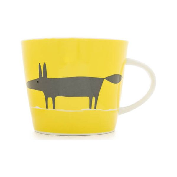 Scion Living Mr Fox Yellow & Charcoal 350ml Mug