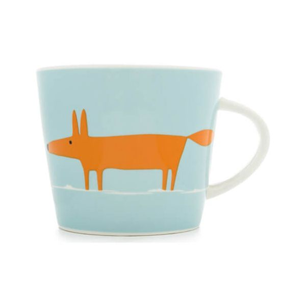 Scion Living Mr Fox Duck Egg & Orange 350ml Mug