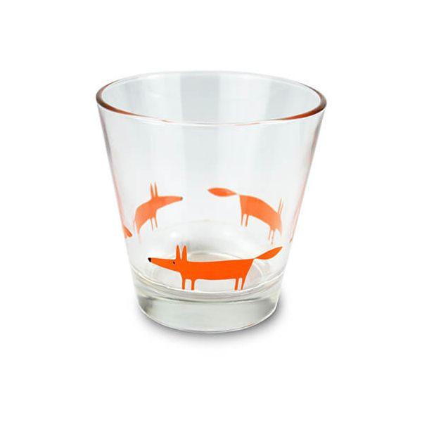 Scion Living Mr Fox Orange Glass Tumbler
