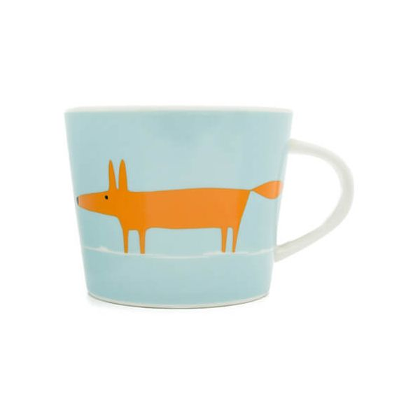 Scion Living Mr Fox Duck Egg & Orange 250ml Mini Mug