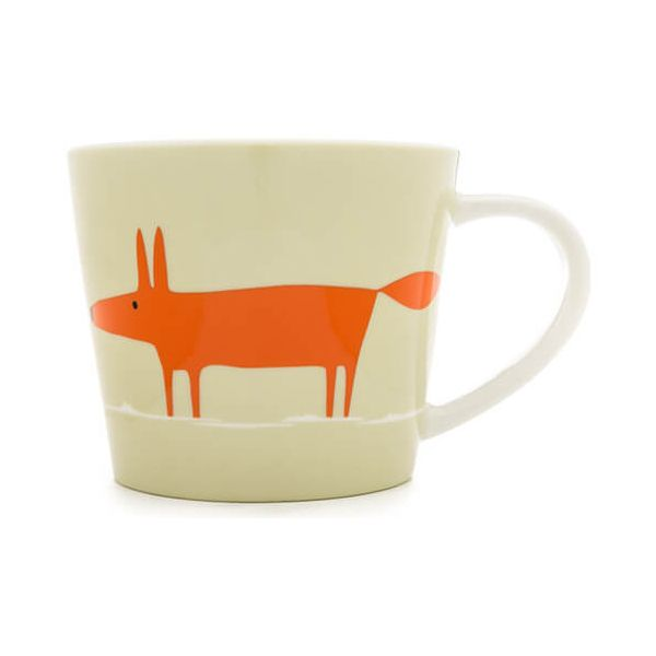 Scion Living Mr Fox Neutral & Orange 525ml Large Mug