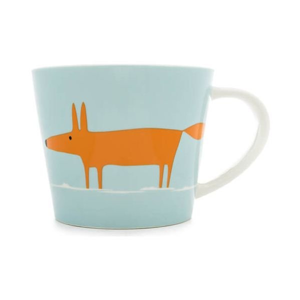Scion Living Mr Fox Duck Egg & Orange 525ml Large Mug