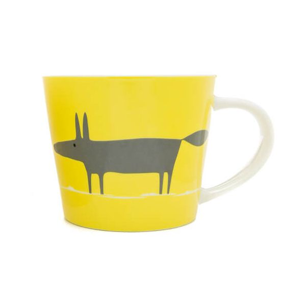 Scion Living Mr Fox Yellow & Charcoal 525ml Large Mug