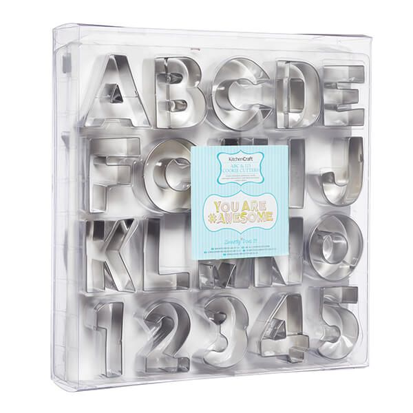Sweetly Does It ABC & 123 Cookie Cutter Set