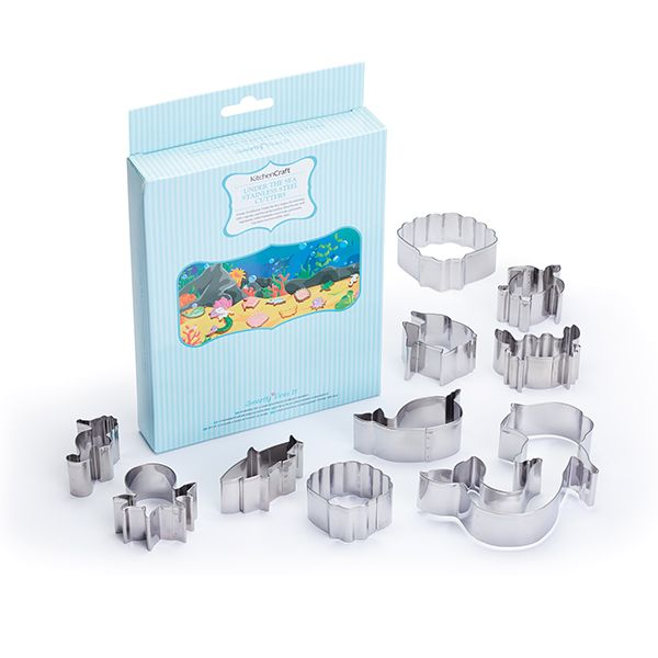 Sweetly Does it Set of Ten 3D Mermaid Cookie Cutters
