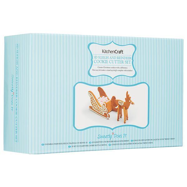 Sweetly Does It 3D Christmas Set Of 4 Sleigh Cookie Cutters