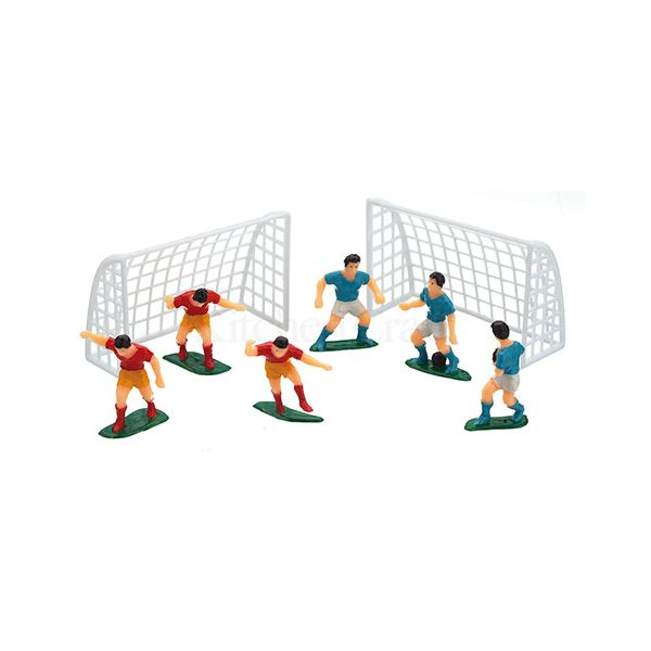 Sweetly Does It Football Cake Topper Set, Eight Piece Set