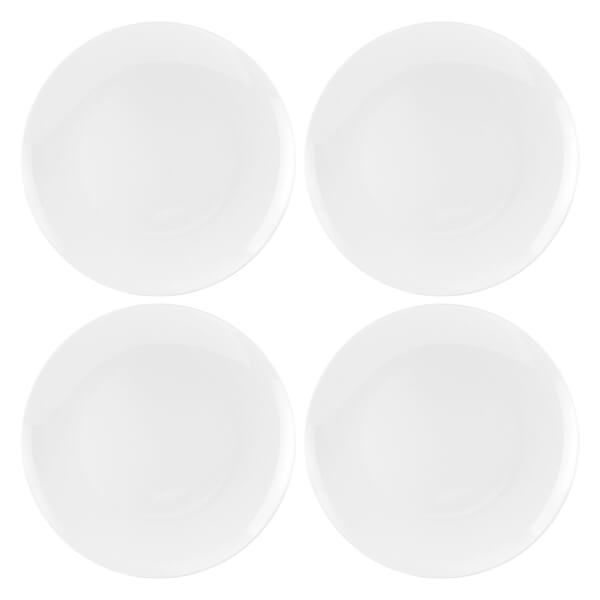 Royal Worcester Serendipity White Set of 4 Coupe Plates 27cm