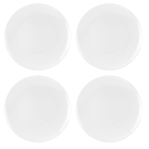 Royal Worcester Serendipity White Set of 4 Coupe Plates 20cm
