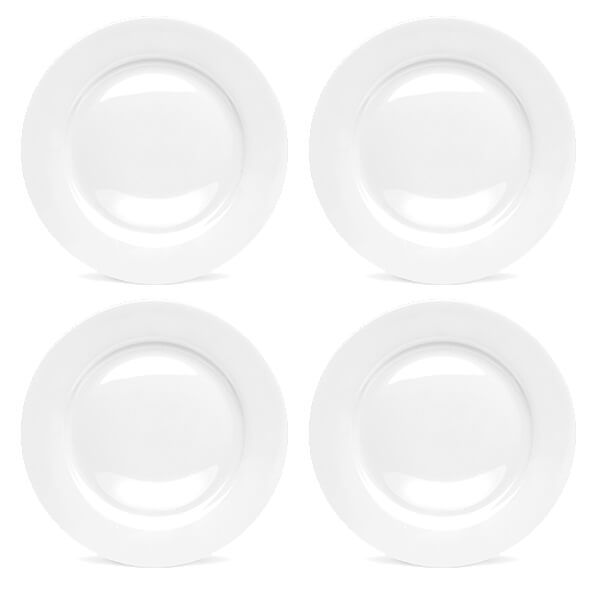 Royal Worcester Serendipity White Set of 4 Dinner Plates