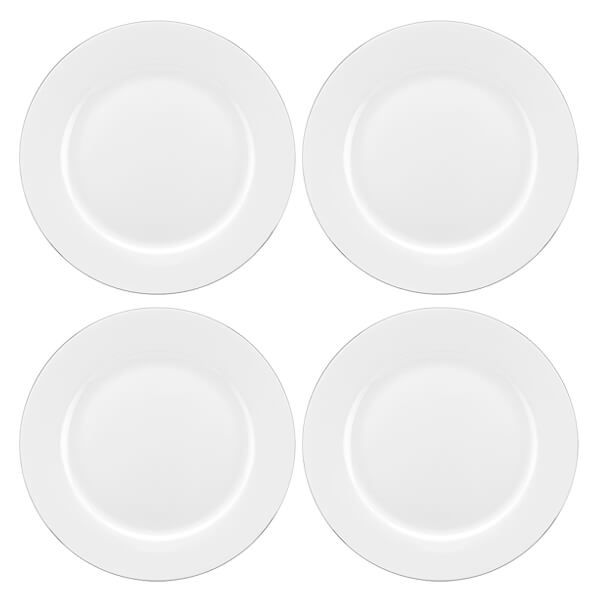 Royal Worcester Serendipity Platinum Set of 4 Dinner Plates