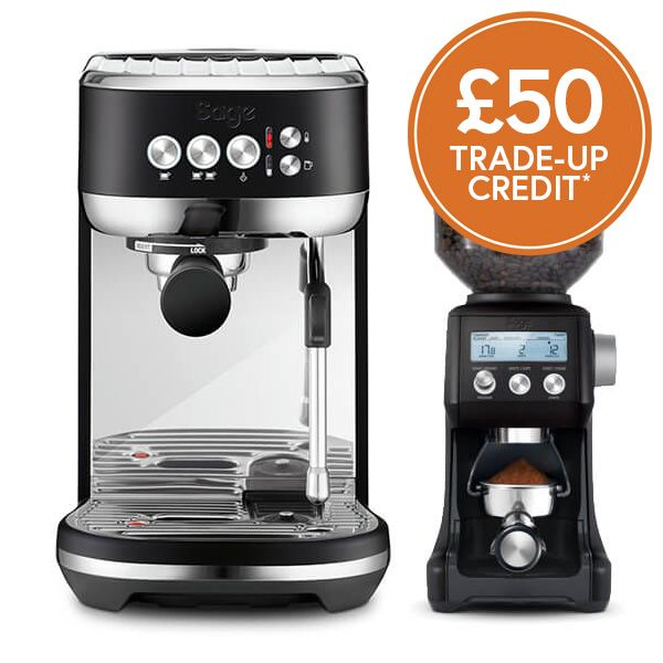 Sage The Bambino Plus Black Truffle Coffee Machine With £50 Trade-Up Credit And FREE Gift