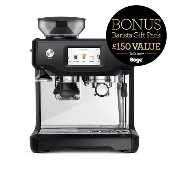 Sage The Barista Touch Black Truffle Coffee Machine with FREE Gift