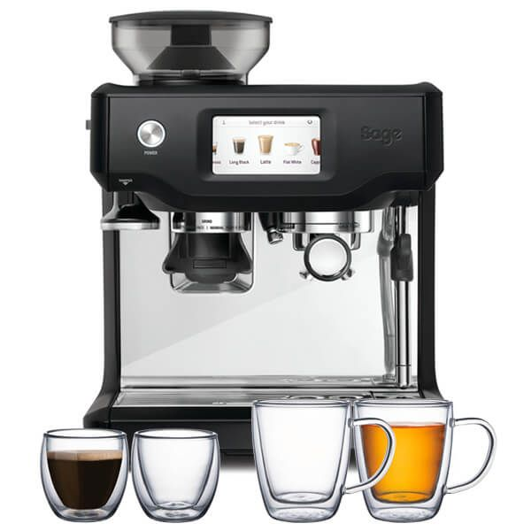 Sage The Barista Touch Black Truffle Coffee Machine with FREE Gifts