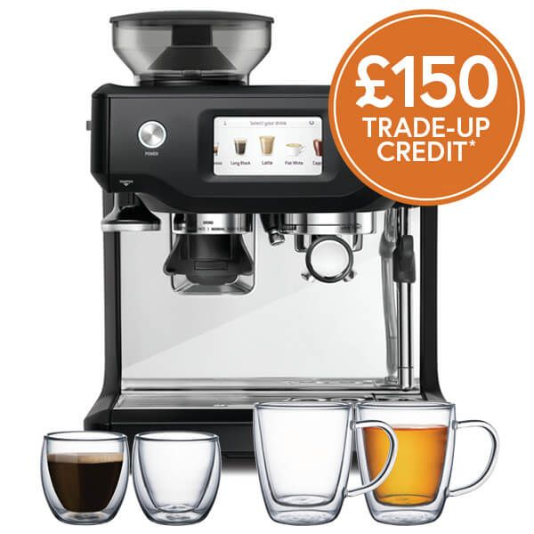 Sage The Barista Touch Black Truffle Coffee Machine with £150 Trade-Up Credit and FREE Gifts