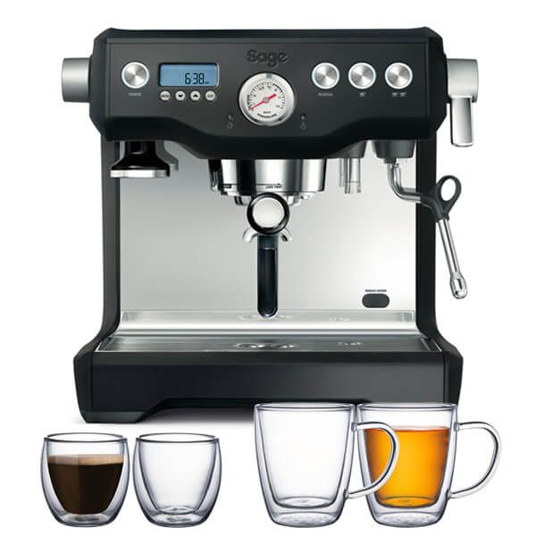 Sage The Dual Boiler Black Truffle Coffee Machine with FREE Gifts