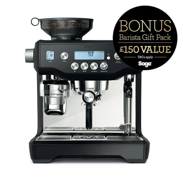 Sage The Oracle Black Truffle Coffee Machine with FREE Gift
