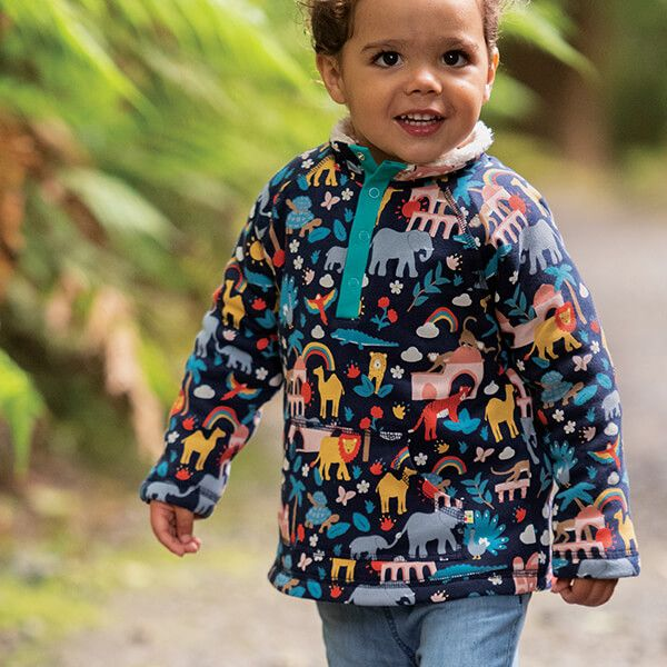 Frugi Organic Indigo India Snuggle Fleece