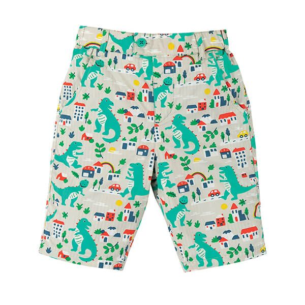 Frugi Organic Reuben Reversible Shorts City Stomp