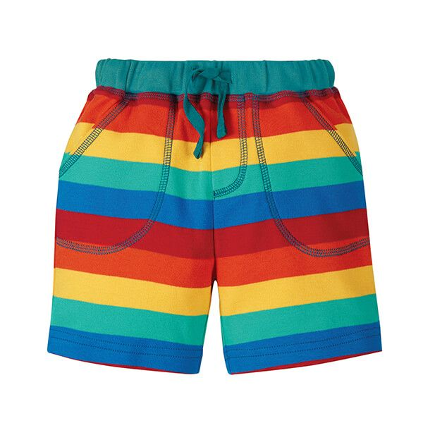 Frugi Organic Rainbow Stripe Little Stripy Shorts