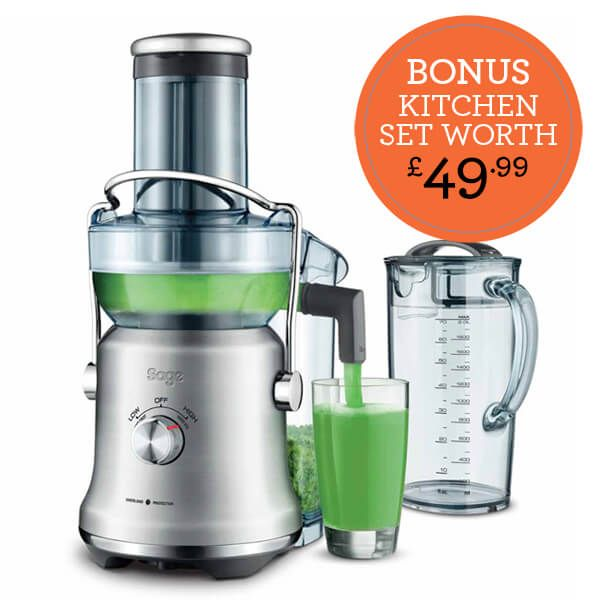 Sage The Nutri Juicer Cold Plus with FREE Gift