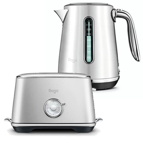 Sage Kettle & Toaster Set Select Luxe Brushed Stainless Steel