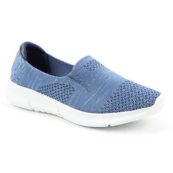 Heavenly Feet Holly Blue/Silver Ath-Leisure Comfort Shoes