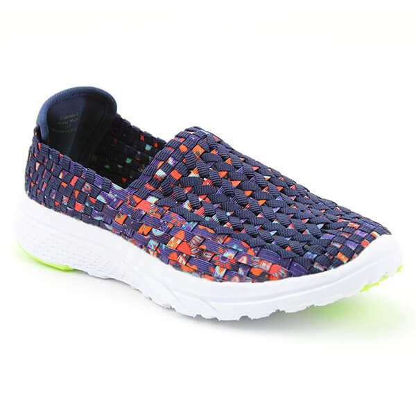 Heavenly Feet Cosmos Navy Multi Ath Leisure Comfort Shoes