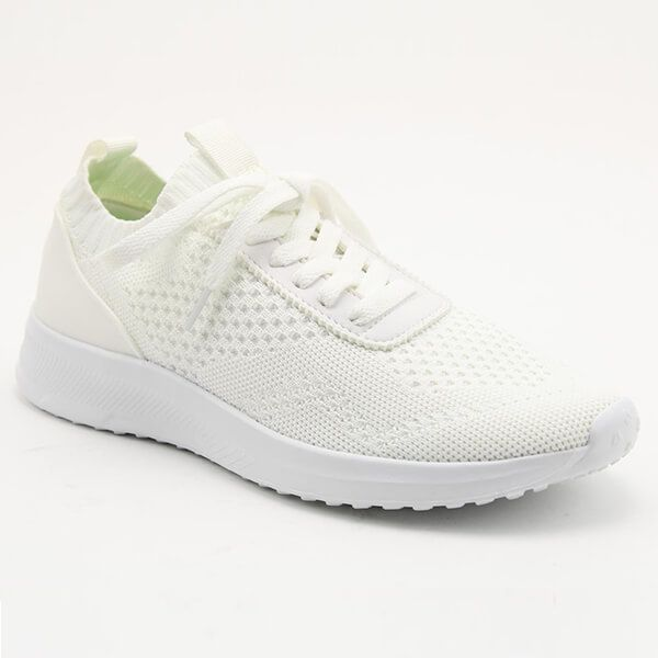 Heavenly Feet Poppy White Ladies Comfort Lace Trainers