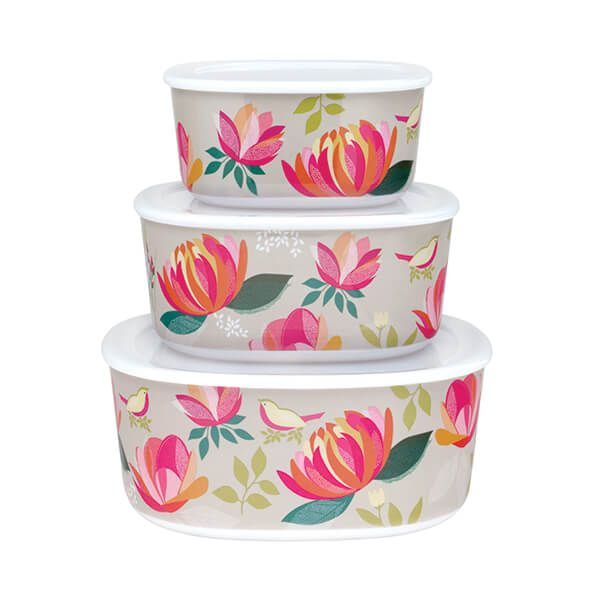 Sara Miller Peony Set of 3 Storage Tubs