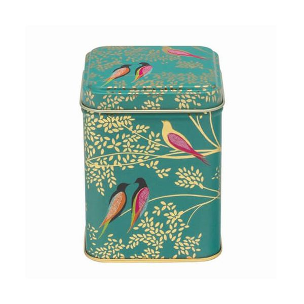 Sara Miller Small Square Green Bird Tin